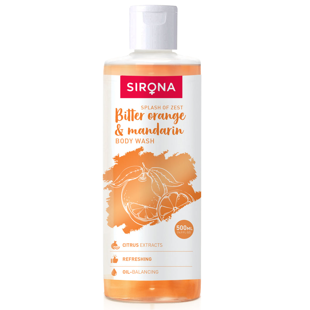 Sirona Body Wash with Bitter Orange and Mandarin - 500 ml - Pee Buddy