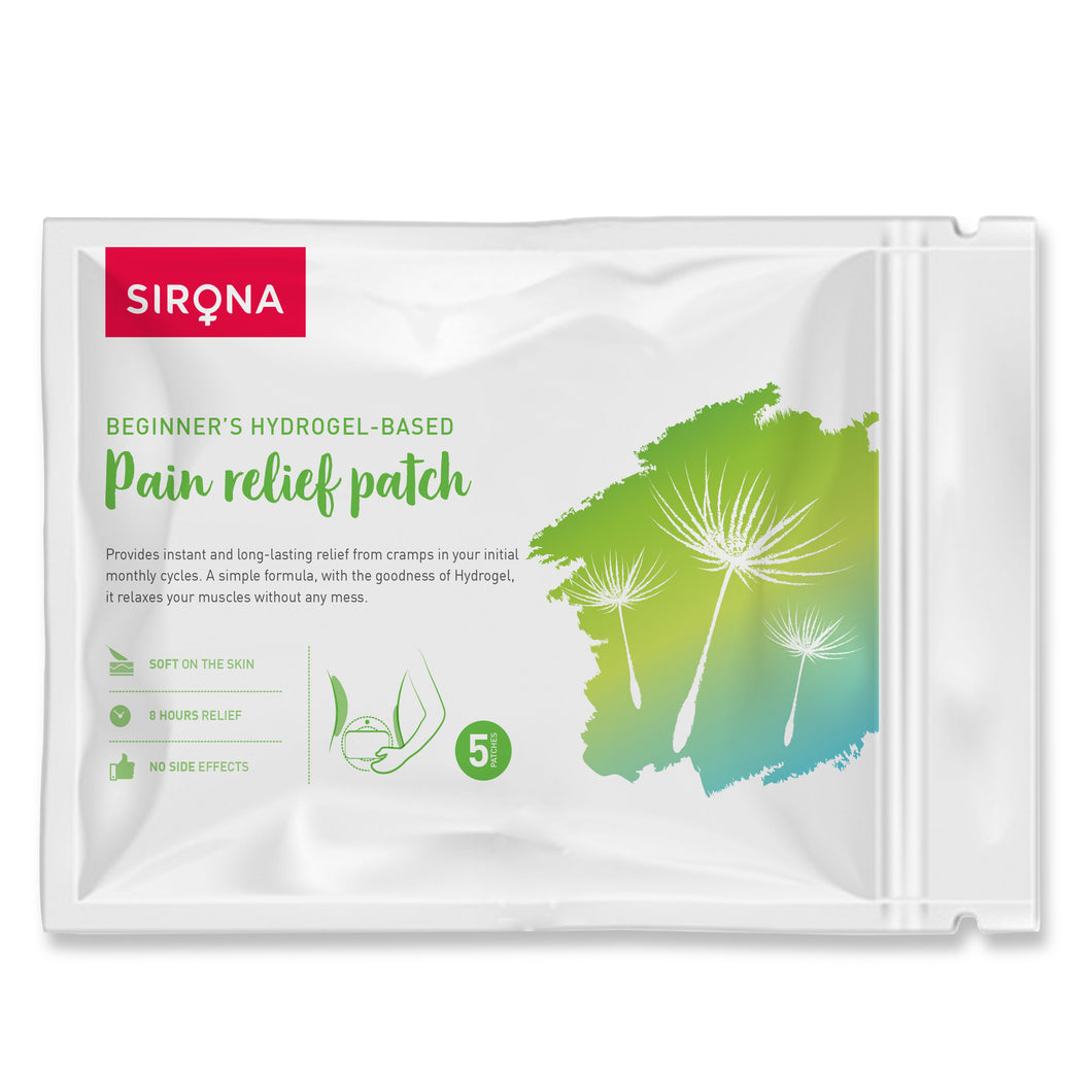 Sirona's Beginner's Hydrogel- Based Pain Relief Patch - Pee Buddy