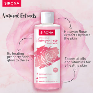 Sirona Body Wash with Hasayan Rose - 500 ml - Pee Buddy