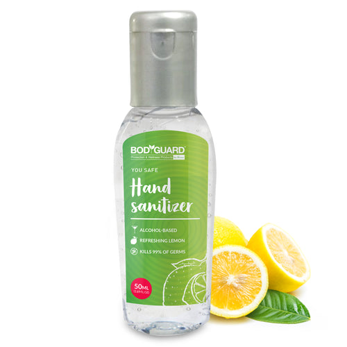 BodyGuard Alcohol Based Hand Sanitizer with Refreshing Lemon - 50 ml - Pee Buddy