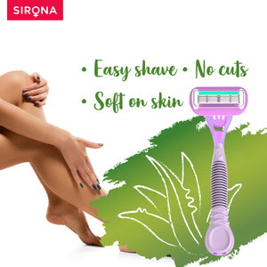 Sirona Aloe Boost 4 Blade Reusable Razor - Pee Buddy