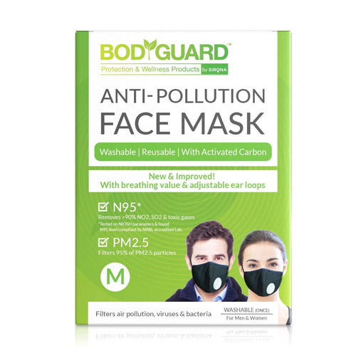 BodyGuard N95 + PM2.5 Anti Pollution Face Mask with Valve and Activated Carbon - Medium - Pee Buddy
