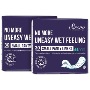 Sirona Ultra-Thin Premium Panty Liners Small – 30 Counts (Pack of 2) - Pee Buddy