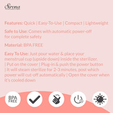 Load image into Gallery viewer, Sirona Menstrual Cup Sterilizer - 1 Unit - Pee Buddy