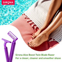Load image into Gallery viewer, Sirona Aloe Boost Twin Blade Disposable Razor - Pee Buddy