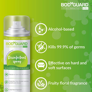 BodyGuard Multipurpose Alcohol Based Disinfectant Spray - 500 ml - Pee Buddy