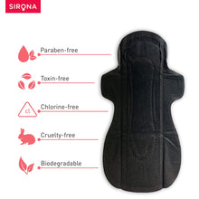 Load image into Gallery viewer, Sirona Biodegradable Black Sanitary Pads - Pee Buddy