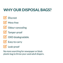 Load image into Gallery viewer, Sirona Adult Diaper Disposable Bags - 30 Bags - Pee Buddy
