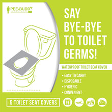 Load image into Gallery viewer, PeeBuddy Waterproof Toilet Seat Covers - 5 Sheets - Pee Buddy