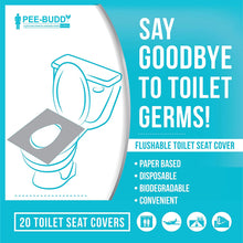 Load image into Gallery viewer, PeeBuddy Disposable Toilet Seat Covers Pack of 2 - Pee Buddy