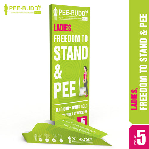 PeeBuddy Female Urination Device - 5 Funnels - Pee Buddy
