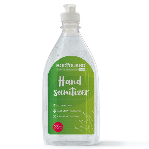 BodyGuard Alcohol Based Hand Sanitizer with Aloe Vera - 500 ml - Pee Buddy