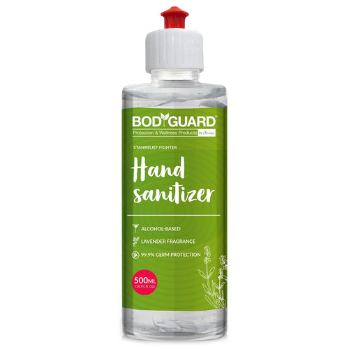 BodyGuard Alcohol Based Hand Sanitizer with Lavender Fragrance - 500 ml - Pee Buddy