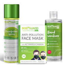 Load image into Gallery viewer, BodyGuard Disinfectant Spray 300ml , N95 Mask Medium - 1 Unit & Lemon Hand Sanitizer - 500ml Combo - Pee Buddy
