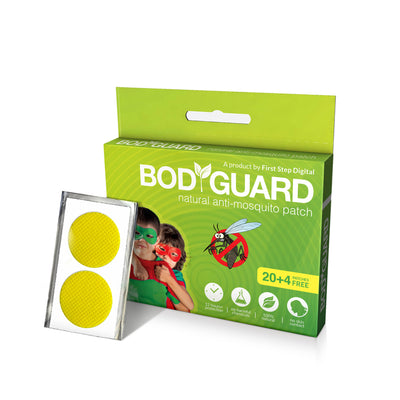 Bodyguard Premium Natural Anti Mosquito Patches – 20 + 4 Patches