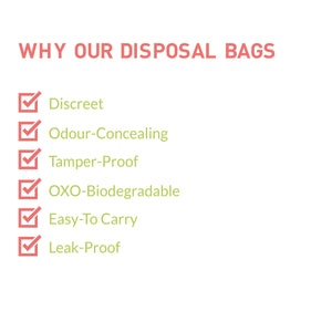 Sanitary and Diapers Disposal Bag by Sirona 15 Bags - Pee Buddy