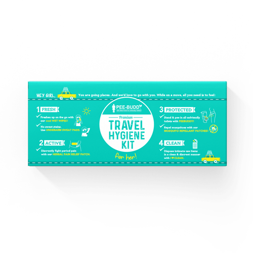 PeeBuddy Premium Travel Hygiene Kit For Her - Pee Buddy