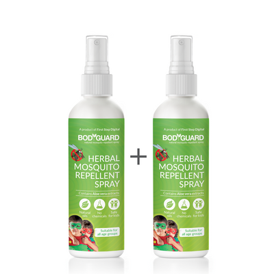 Bodyguard Natural Anti Mosquito Spray – Set of 2 (100 ml Each)
