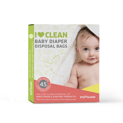 BodyGuard - Baby Diapers and Sanitary Disposal Bag - 45 Bags