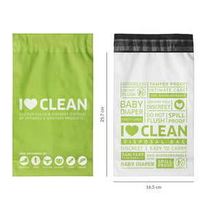 Sanitary & Diapers Disposal Bag by Sirona 30 Bags (2 Pack - 15 Bags Each) - Pee Buddy