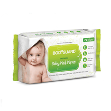 Load image into Gallery viewer, BodyGuard Baby Wet Wipes with Aloe Vera - 72 Wipes - Pee Buddy