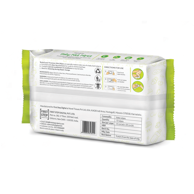 BodyGuard Premium Paraben Free Baby Wet Wipes with Aloe Vera - 216 Wipes (3 Pack, 72 each)