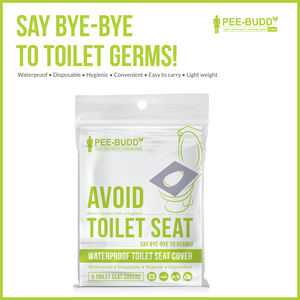 PeeBuddy Waterproof Toilet Seat Covers - 5 Sheets - Pee Buddy