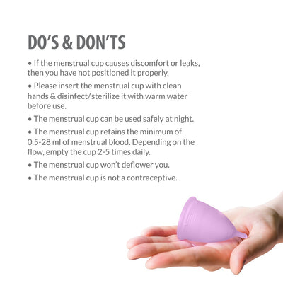 Sirona FDA Approved Reusable Menstrual Cup with Medical Grade Silicone - Large (Set of 2)