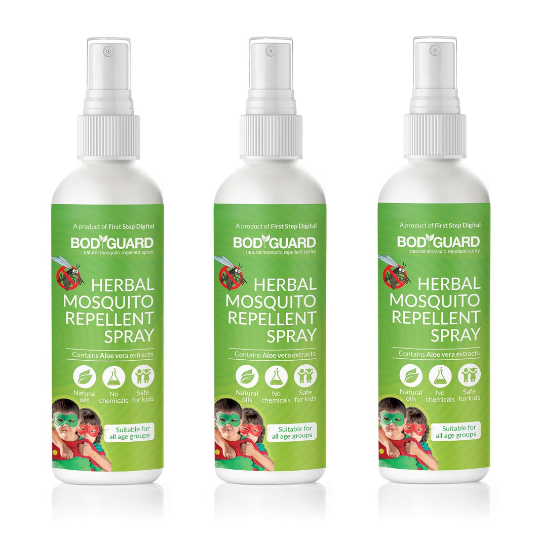 Bodyguard Natural Anti Mosquito Spray – Set of 3 (100 ml Each) - Pee Buddy