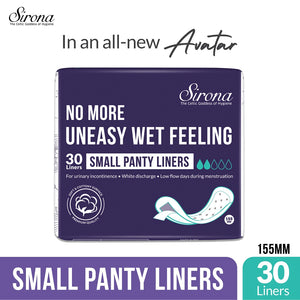 Sirona Ultra-Thin Small Panty Liners - 30 Counts - Pee Buddy