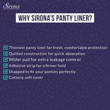 Load image into Gallery viewer, Sirona Ultra-Thin Premium Panty Liners Small – 30 Counts (Pack of 2) - Pee Buddy