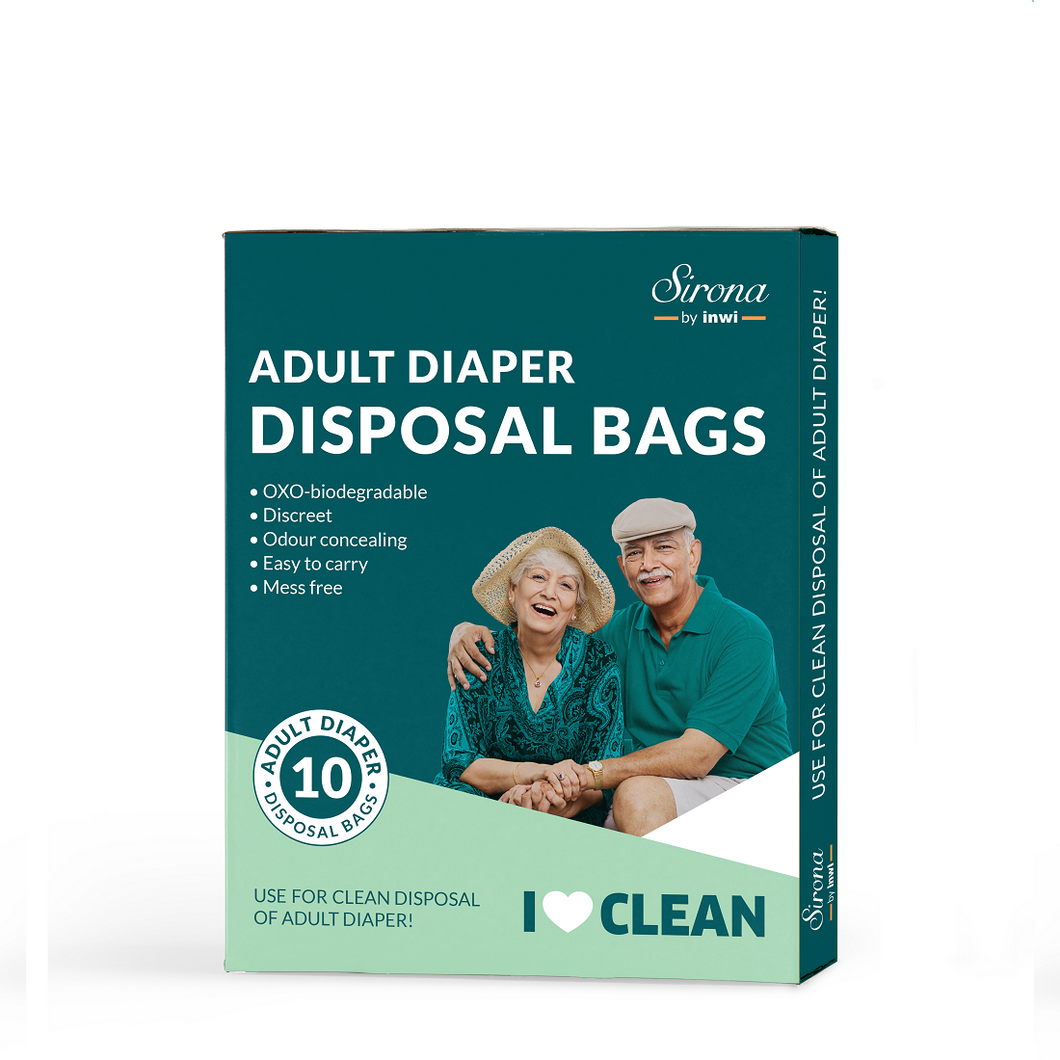 Sirona Adult Diaper Disposable Bags - 10 Bags - Pee Buddy
