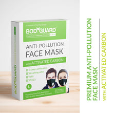 BodyGuard Reusable Anti Pollution Face Mask with Activated Carbon, N99 + PM2.5 for Men and Women - Large