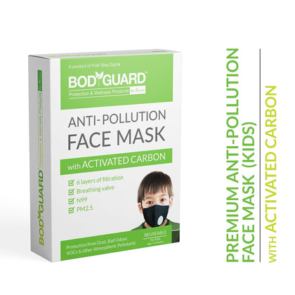 BodyGuard Reusable Anti Pollution Mask, N99 + PM2.5 - Small - Pee Buddy
