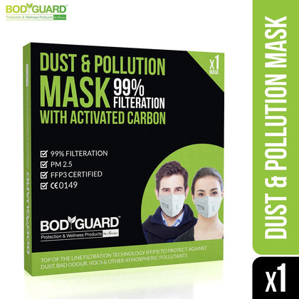 BodyGuard Dispoasable Anti Dust & Pollution Face Mask, N99 +PM2.5 - Pee Buddy