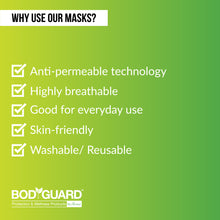 Load image into Gallery viewer, BodyGuard Breathe Easy Everyday Reusable Anti Pollution Mask - 3 Unit - Pee Buddy
