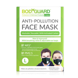 BodyGuard N95 + PM2.5 Anti Pollution Face Mask with Valve and Activated Carbon - Pee Buddy
