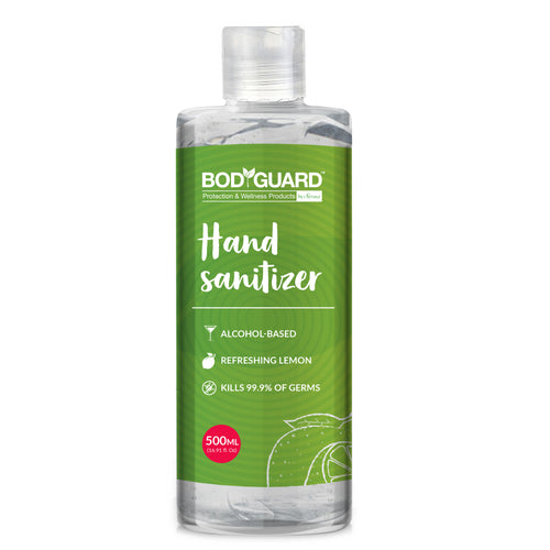 BodyGuard Alcohol Based Hand Sanitizer with Refreshing Lemon - 500 ml - Pee Buddy