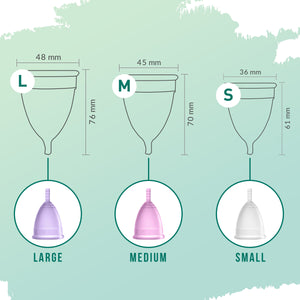 Sirona Reusable Menstrual Cup with Pouch - Pee Buddy