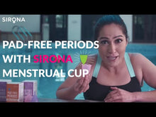 Load and play video in Gallery viewer, Sirona Pro Reusable Menstrual Cup with Pouch, Mini Intimate Wash & Cup Wash