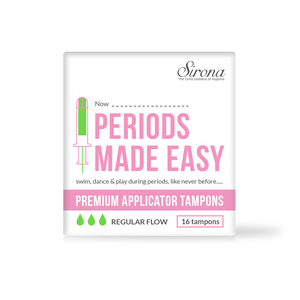 Sirona Premium Applicator Tampons - Normal Flow (16 Pcs – 1 Pack) - Pee Buddy