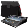 Snugg iPad 1 (2010) Leather Case, Flip Stand Cover - Black