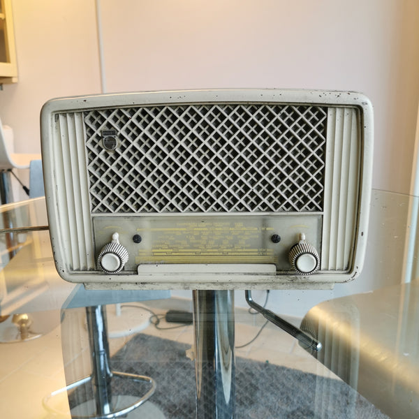 Vieille radio vintage Bluetooth Philips Blanche