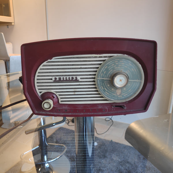Vieille radio vintage Bluetooth Philips Philetta