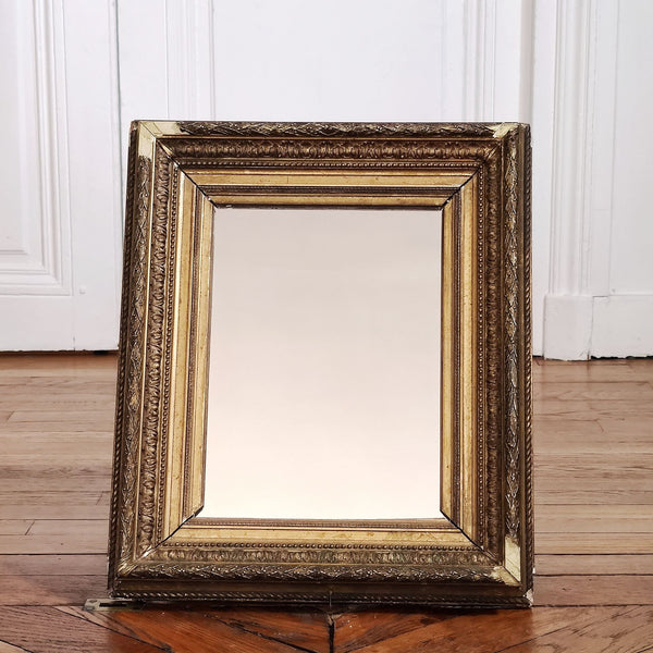 Miroir feuille d'or style barbizon