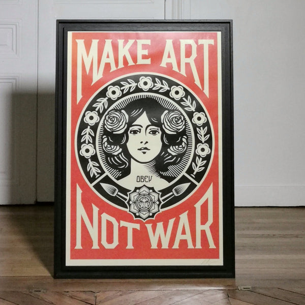 Lithographie Shepard Fairey Make art not war