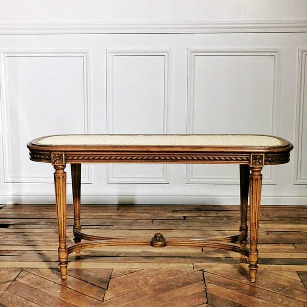 Banc canné Louis XVI