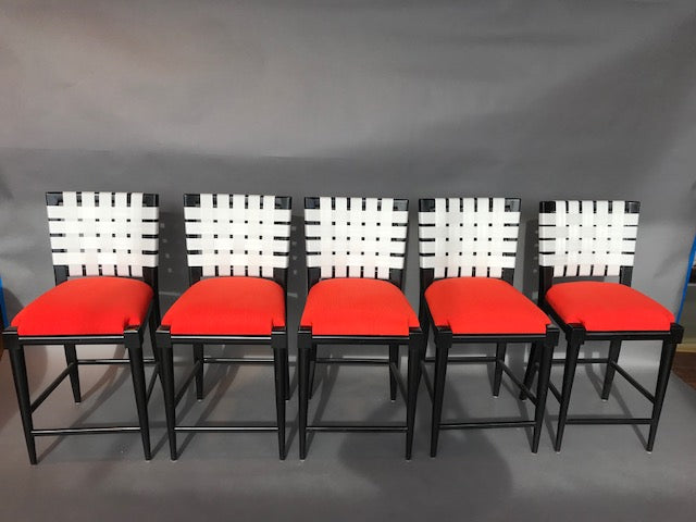 Set of Five Barstools