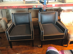 Club Chairs - A Pair