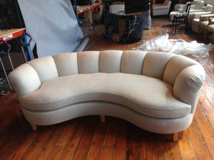 Channeled Back Sofa